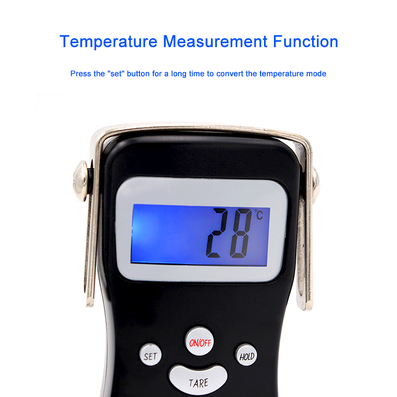 50kg Aluminum Alloy Digital Fish Scale With 1m Tape